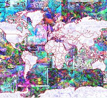 world map collage 3 by BekimART