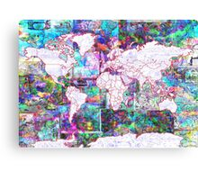 world map collage 3 Canvas Print