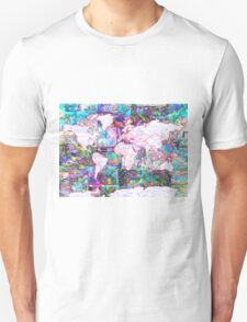 world map collage 3 T-Shirt