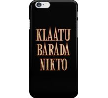 Ash vs Evil Dead - Klaatu Barada Nikto iPhone Case/Skin