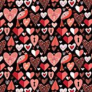 pattern of bright hearts by Tanor