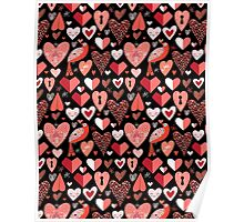 pattern of bright hearts Poster