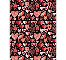pattern of bright hearts Photographic Print