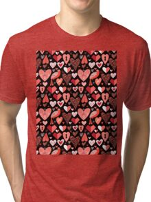 pattern of bright hearts Tri-blend T-Shirt