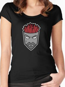 Fryman - Grey and Red Women's Fitted Scoop T-Shirt