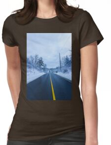 Winter Road Womens Fitted T-Shirt