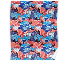 abstract pattern and bird lovers Poster