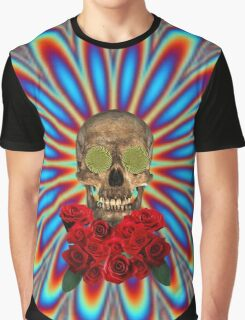 Psychedelic Skull and Roses - Grateful Dead Graphic T-Shirt