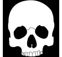 White Skull Photographic Print
