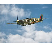 Spitfire in The Clouds Photographic Print