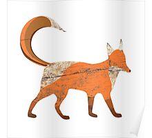 Wood Fox Poster