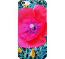 Front Yard Meadow, Red Poppy iPhone Case/Skin