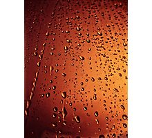 Rain drops  (abstract) Photographic Print