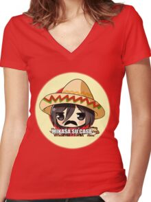 Mikasa Su Casa  Women's Fitted V-Neck T-Shirt
