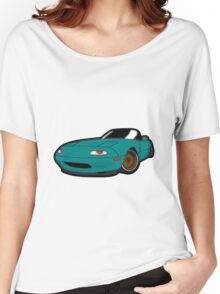 Convertible blue japan car Women's Relaxed Fit T-Shirt