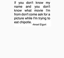 Ansel Elgort Chipolte Quote Tweet Womens Fitted T-Shirt