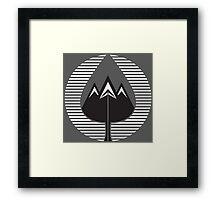 mountain leaves Framed Print
