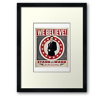 Stand With Ward Framed Print