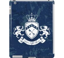 Coat of arms - shield with crown, key and arrow, two standing lions at sides iPad Case/Skin
