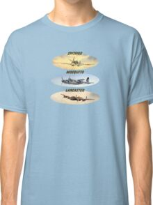 Spitfire Mosquito Lancaster Collages With Banners Classic T-Shirt