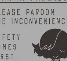 MGSV Warning Sign - Paz Sticker