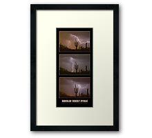 Southwest Desert Thunderstorm Progression Framed Print