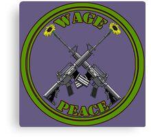 Wage peace logo Canvas Print