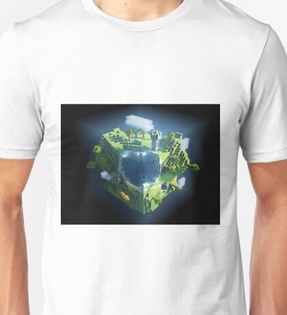 minecraft cubic world Unisex T-Shirt