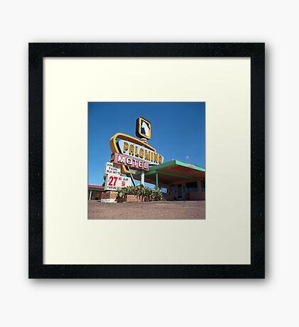Palomino Motel Framed Print
