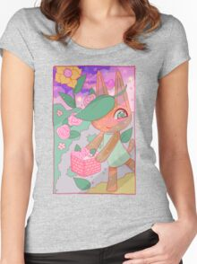 Tangy's Garden {Animal Crossing} Women's Fitted Scoop T-Shirt