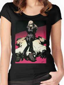 catherine kat and sheep Women's Fitted Scoop T-Shirt