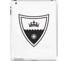 Coat of arms - shield with crown, stronghold wall and sun.  iPad Case/Skin