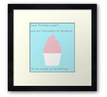 Celery of Desserts Framed Print