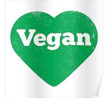 Vegan Heart - Distressed Print Poster