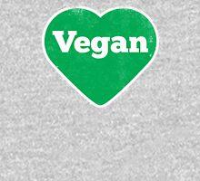 Vegan Heart - Distressed Print Unisex T-Shirt