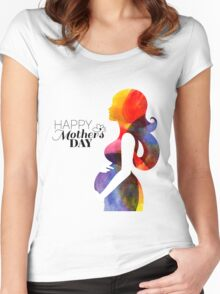 Beautiful pregnant woman #21 Women's Fitted Scoop T-Shirt