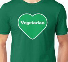 Vegetarian Heart Unisex T-Shirt