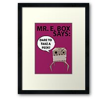 Mr. E Monster Box Framed Print