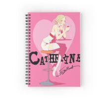 catherine enjoying a drink Spiral Notebook