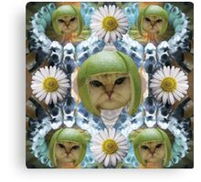 infinity lime cat Canvas Print