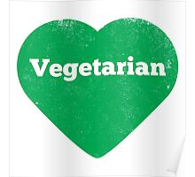 Vegetarian Heart - Distressed Poster
