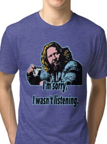 Big Lebowski Philosophy 28 Tri-blend T-Shirt