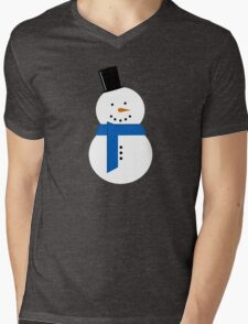 Snowman Mens V-Neck T-Shirt