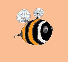 Bumble baby - orange by Stevie the floating artist