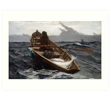 The Fog Warning (Halibut Fishing) by Winslow Homer (1885) Art Print