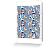 pattern of cat lovers hearts Greeting Card