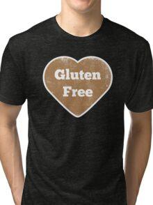 Gluten Free Heart - Distressed Tri-blend T-Shirt