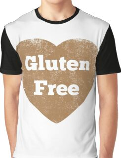 Gluten Free Heart - Distressed Graphic T-Shirt