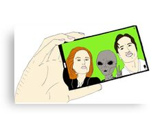 Alien Selfie Canvas Print