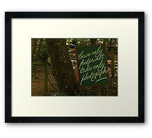 Leave Only Footprints Framed Print